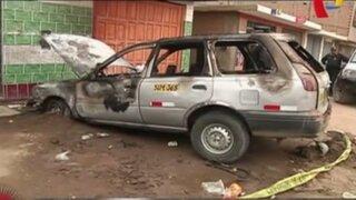 SMP: hombre murió calcinado en el interior de su vehículo