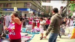 Cerca de 10 mil ambulantes serán desalojados de Gamarra en los próximos días
