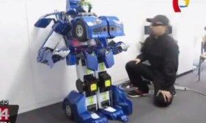 Japón: crean primer robot humanoide capaz de convertirse en un vehículo