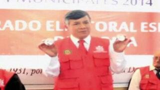 Alcalde de Santa Bárbara de Carhuacayán también fue reelegido por sorteo