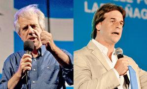 Elecciones en Uruguay: Tabaré Vásquez y Luis Lacalle se van a segunda vuelta