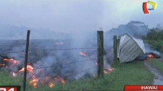 Hawai: lava de volcán amenaza a decenas de pobladores