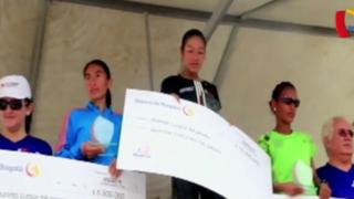 La atleta nacional Inés Melchor ganó la maratón de Bucaramanga