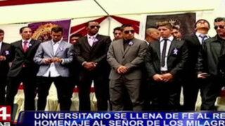 Bloque Deportivo: Universitario se llena de fe y homenajea al Señor de los Milagros