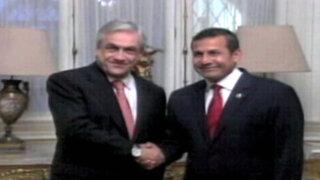 Ollanta Humala se reunió con Sebastián Piñera en Palacio de Gobierno