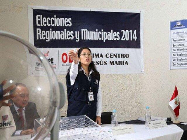 Elecciones 2014: virtuales presidentes regionales a boca de urna