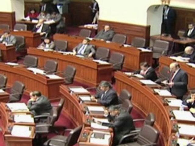 Congreso aprobó no reelección inmediata para presidentes regionales y alcaldes