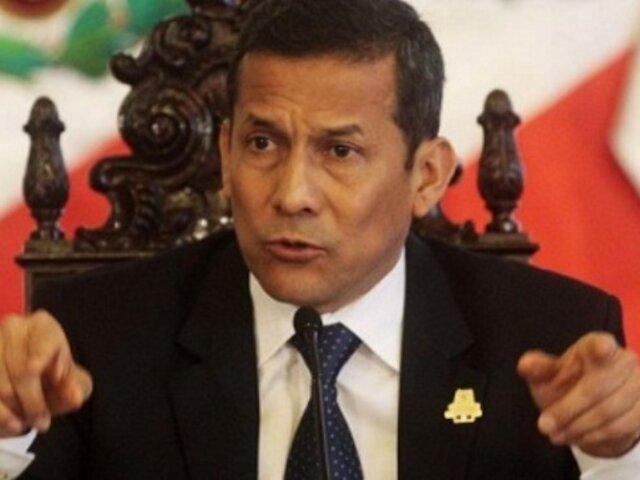 Ipsos: aprobación del presidente Humala desciende a 25% en enero