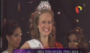 Andrea Luján se coronó como la Miss Teen Model Perú 2014