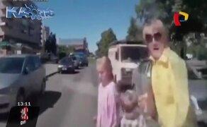 Rusia: dos niñas son violentamente atropelladas frente a su madre y sobreviven
