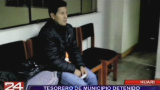 Huari: Tesorero de municipio fue detenido por robar 60 mil soles