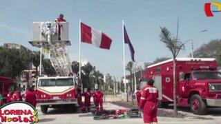 Comandante de los Bomberos del Perú se mostró contento con donación del estado