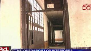 Plaza Dos de Mayo: así quedaron los interiores de la casona incendiada