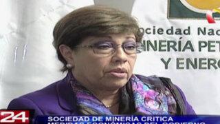 Sociedad de minería critica medidas económicas del Gobierno