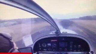 VIDEO: impactantes imágenes de un accidente aéreo desde la cabina del piloto