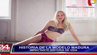 Conoce la impactante historia de una longeva modelo de ropa interior