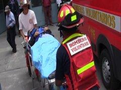 Pintor sobrevive de 'milagro' tras caer desde el piso nueve en edificio de Lince