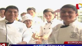 Surquillo: jóvenes cocineros se lucen en concurso gastronómico