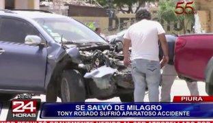 Piura: artista Tony Rosado salvó de morir luego de sufrir aparatoso accidente