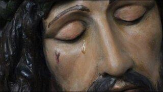 Trujillo: Cristo que llora recibe la visita de cientos de fieles y curiosos