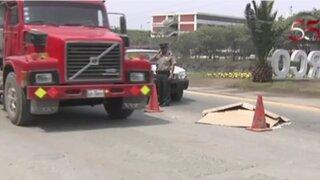 Anciano muere atropellado por camión volquete en Monterrico