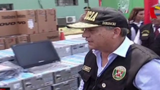Daniel Urresti entrega 1,500 computadoras a comisarías de Lima y Callao