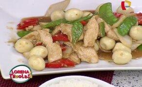 Aprende a preparar un riquísimo 'Pollo con verduras y huevitos de codorniz'