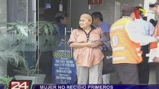 Mujer no recibió primeros auxilios en bus interprovincial y casi muere