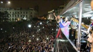 Entre críticas y halagos: Calle 13 improvisó concierto en Plaza San Martín