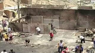 SJL: cinco familias lo perdieron todo en incendio ocurrido en Campoy