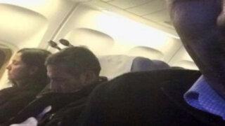 Twitter: captan a Ollanta Humala y Nadine Heredia durmiendo en avión