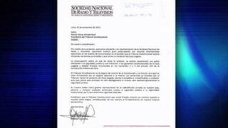 SNRTV envía carta a presidente del TC por revisión de sentencias firmes