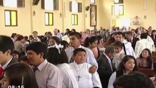 Emotiva ceremonia: más de 30 niños con habilidades especiales reciben sacramento
