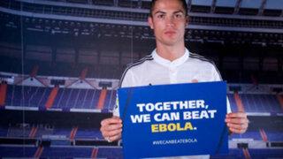 FOTOS: Cristiano Ronaldo, Neymar y otros futbolistas se unen contra el Ébola