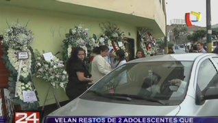 Velan los restos de adolescentes que fallecieron en accidente en La Molina