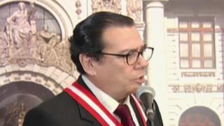 Presidente del Poder Judicial garantizó transparencia en juicio a Orellana