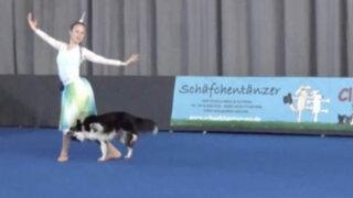 VIDEO: conoce a la talentosa perrita Lizzy, campeona mundial danza canina