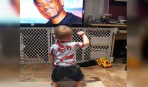 VIDEO: bebé que baila al ver fotografía de Will Smith conquista las redes