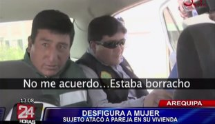 Policía Nacional capturó a sujeto que desfiguró a su pareja en Arequipa