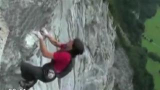 Cámaras registraron caída de montañista desde una altura de 5 mil metros