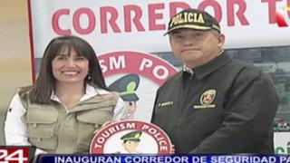 Inauguran corredor de seguridad para turistas que llegan al Jorge Chávez