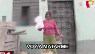 Ate: mujer amenaza con prenderse fuego para evitar desalojo