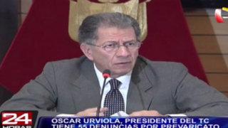 Óscar Urviola: presidente del TC tiene 55 denuncias por prevaricato