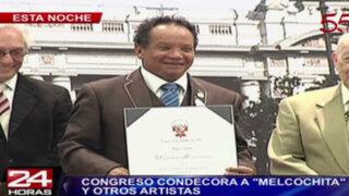 Congreso condecora a 'Melcochita' y otros artistas peruanos