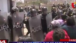 Cañete: violento desalojo de familias invasoras en Mala
