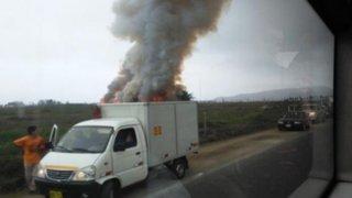Incendio destruye área protegida de los Pantanos de Villa