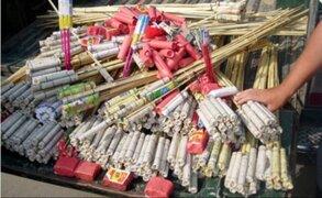 Chiclayo: incautan productos pirotécnicos valorizados en 50 mil soles