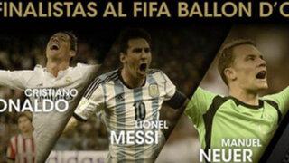 Cristiano Ronaldo, Messi y Neuer son los finalistas al Balón de Oro 2014