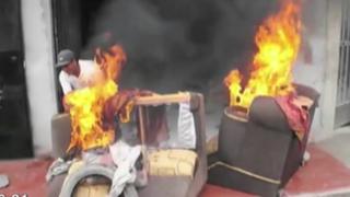 Barranca: familiares de joven asesinado destrozan casa de presunto homicida