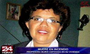 Profesora murió asfixiada en incendio provocado por vela encendida